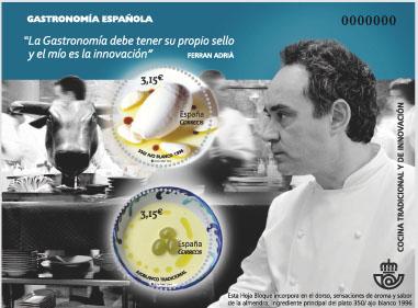 timbre pour promouvoir la gastronomie esapgnole