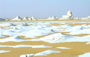 désert blanc d'Egypte