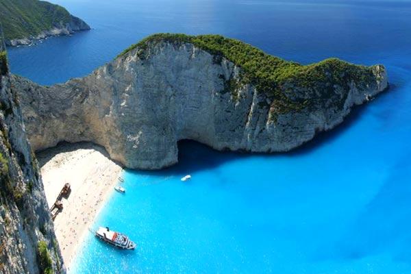 plage de Navagio Zante en Grèce