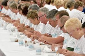 record décorticage crevettes grises 2014 concurrents