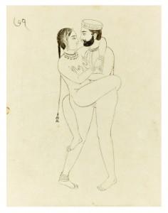 Kâma-Sutrâ. Pinacothèque. Couple debout.