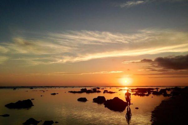 Saint Pierre. La Réunion. Coucher du soleil