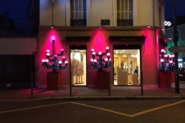 Boulogne Billancourt.Opticien. Illuminations noël.