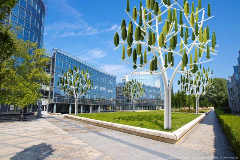 arbre à vent dans immeuble