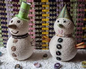 diy. 2 bonhommes de neige. Anis de flavigny.