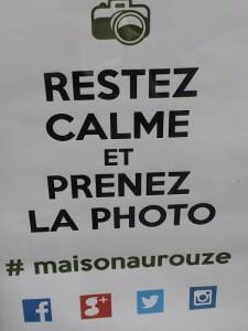 Aurouze. Photo. restez calme.