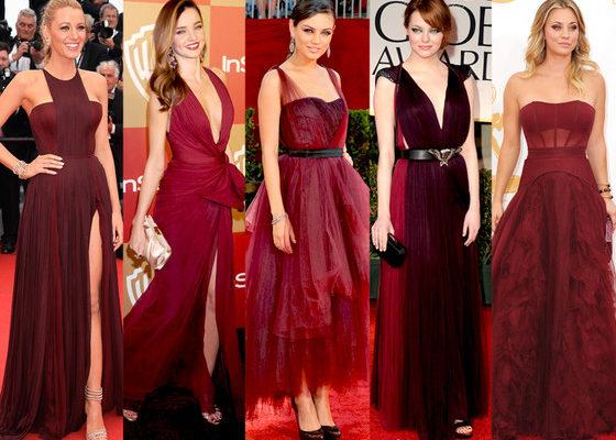 Pantone. Marsala. Red Carpet.