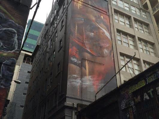 Melbourne. street art. commande arborigène