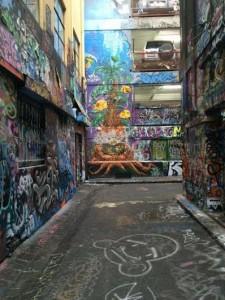 melbourne. Street art. rue en coin