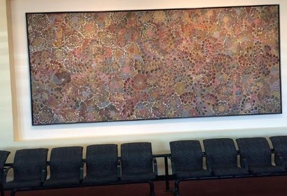 alice spring. Art aborigène