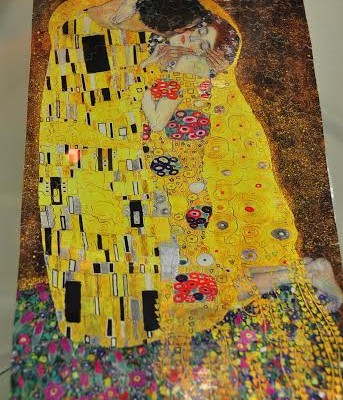 Puzzle michèle Wilson. Le baiser de Klimt.