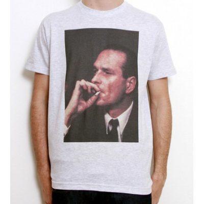 Chirac. Fume. Tee shirt.