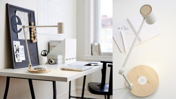 IKEA. Chargeur sans fil intégré. bureau