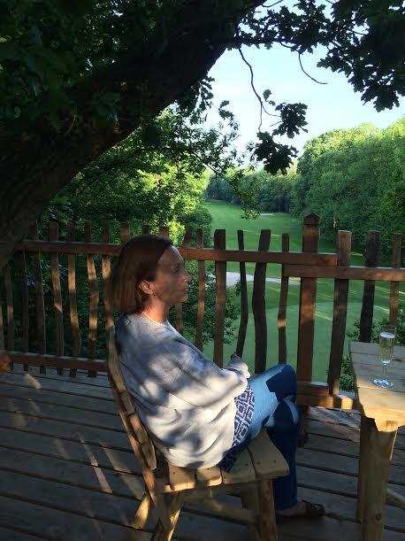 cabane des grands chênes. Raray. Oise. Isabelle Monrozier