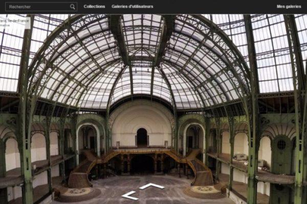 Vue de la Nef du Grand Palais depuis le site de l'Institut Culturel Google