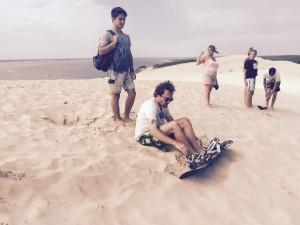 Dune du Pilat. Sandboard. Crédit photo : Frédéric Rousset.