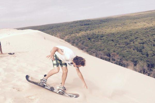 Dune du Pilat.Sandboard.