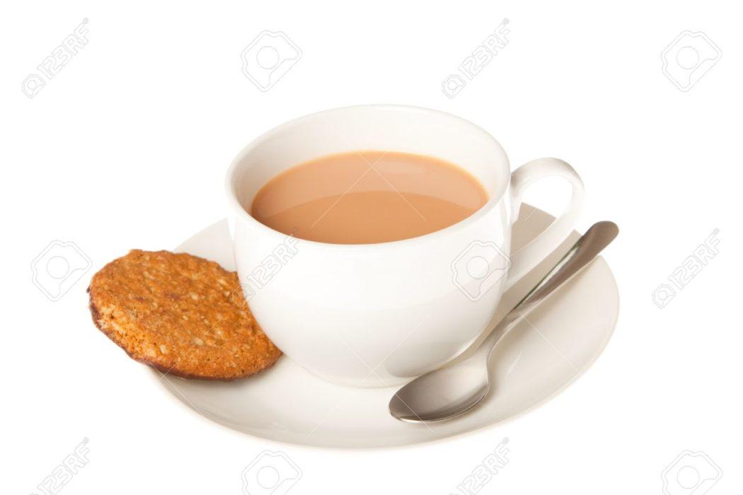 tasse de thé biscuit.