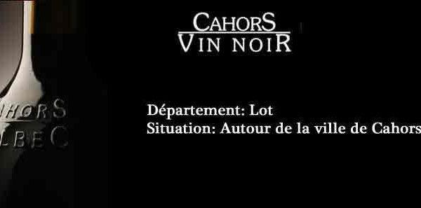 Vin noir de Cahors.