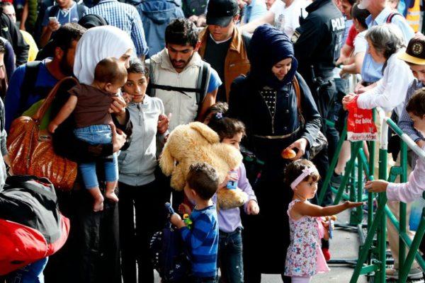 Munich.Arrivée des migrants.