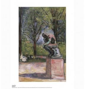affiche du Musée Rodin. le Penseur. Munch