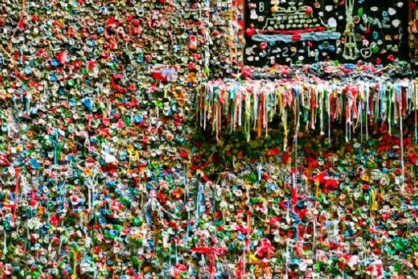 seattle mur de chewing gum dégoulinant.