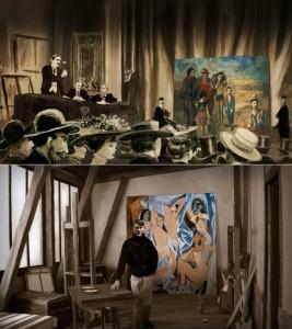 Picasso; Vente de la Peau de l'Ours. Et devant les demoiselles d'Avignon.