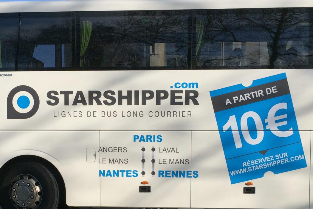starshipper trajets en car bon march paris nantes et paris rennes la femme qui marche. Black Bedroom Furniture Sets. Home Design Ideas
