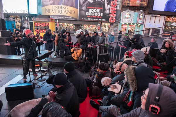 times Square concert pro chiens.