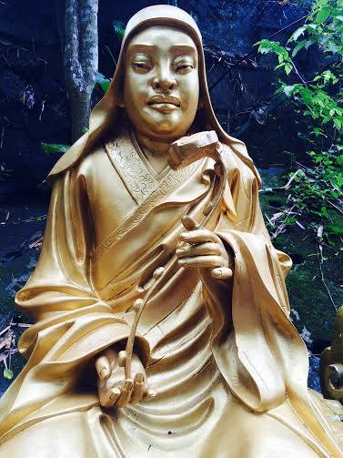 lèvres. Monastère des dix mille bouddhas.