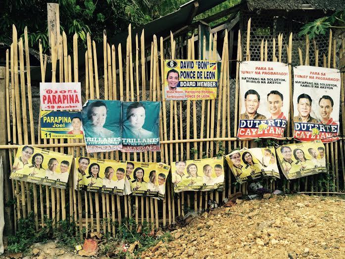 duterte. candidat élections philippines. Affiches électorales.