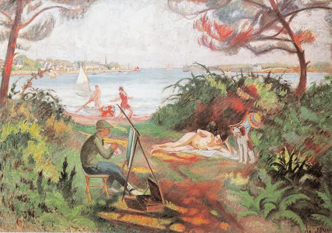 Joies du plein air. L'étude en plein air. 1912