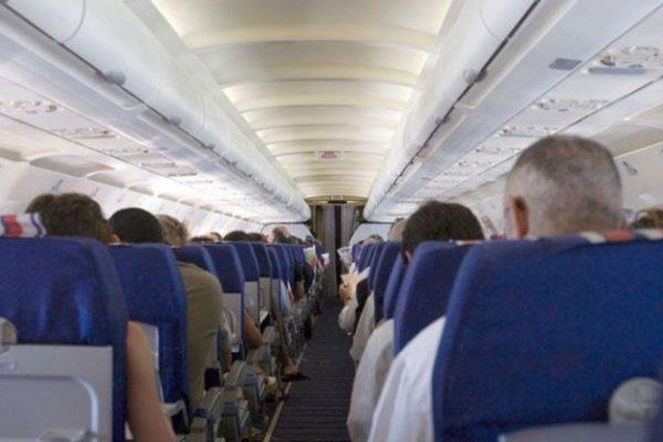passagers intérieur avion de ligne