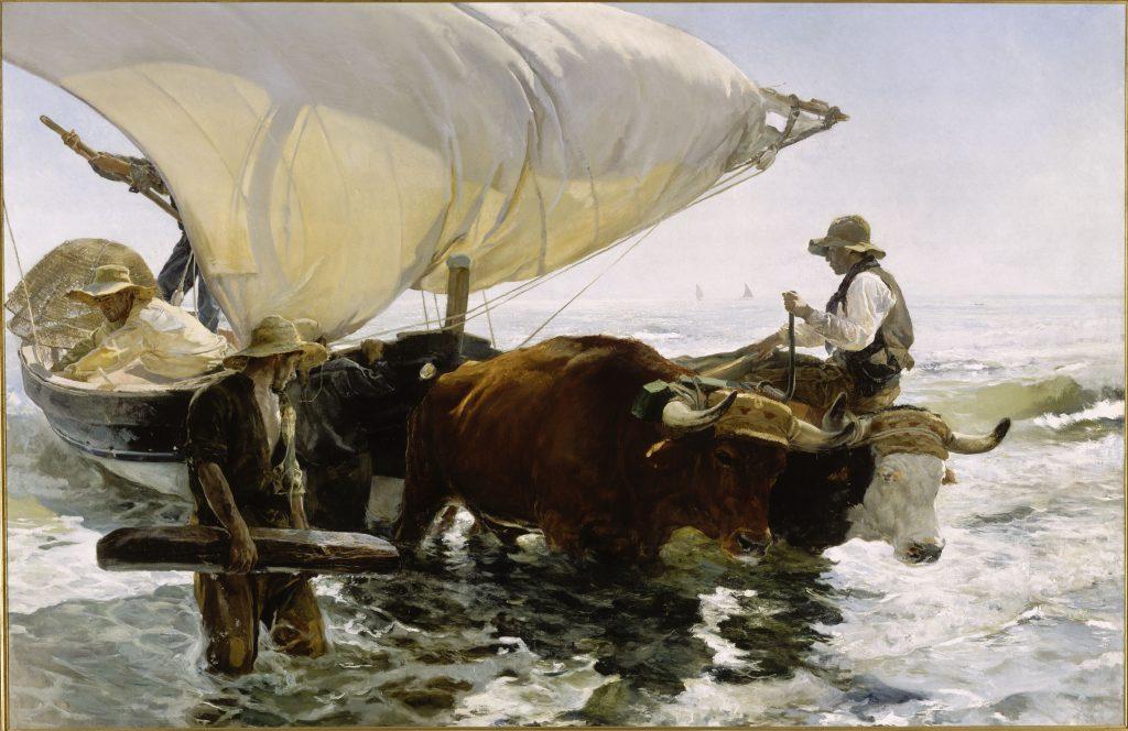 Retour de la pêche : halage de la barque. 1894. Musée d'Orsay.