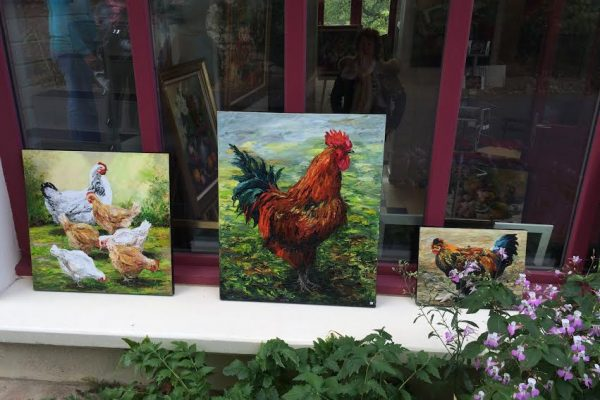 Giverny. Fondation Claude Monet. les poules.
