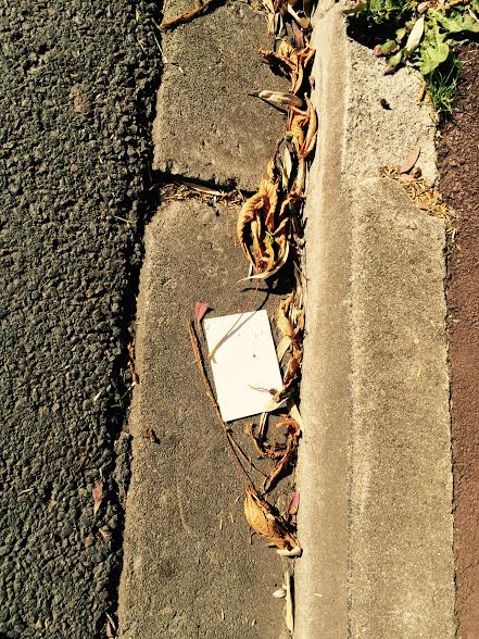 déchets rue.