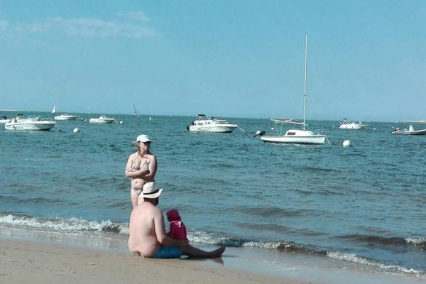 bassin d'arcachon. pyla sur mer; tous à la plage.
