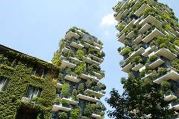 milan. bosco verticale. 2 tours plantées de 20 000 arbres.