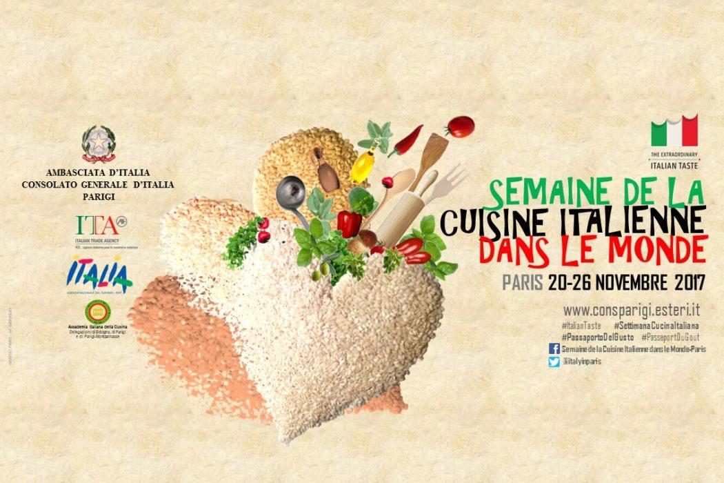 Banner SEMAINE DE LA CUISINE ITALIENNE DANS LE MONDE - PARIS - 2017