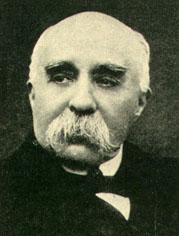 clemenceau. sans é. président du conseil  le 12 novembre 1917.