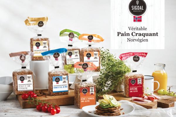 sigdal : véritable pain craquant norvégien. fibres et graines garantis.