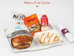 Menu Fun air france.