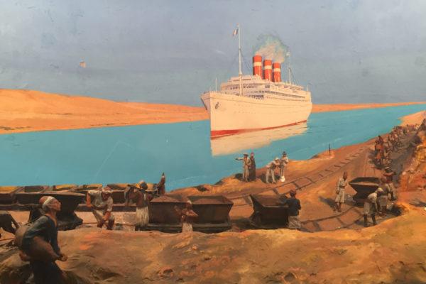 «epopée du canal de Suez, des pharaons au XXI ème siècle» à l'institut du monde arabe.