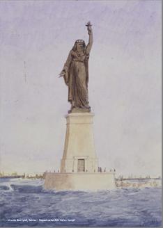 canal de suez. STATUE DE Bartholdi.