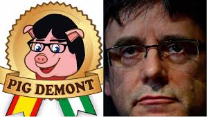 espagne : carles puigdemont réclame le retrait de pig demont, une marque de jambon.