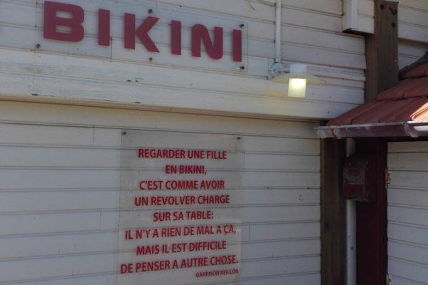 bassin d'arcachon. moulleau. le bikini.