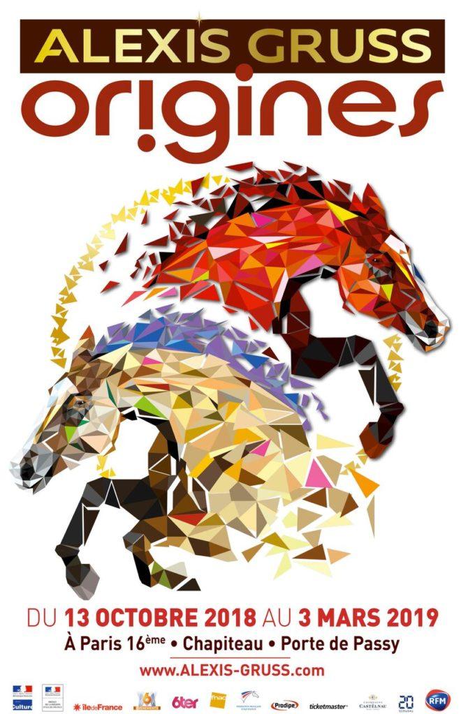 Cirque Gruss. Affiche Origines. La Femme Qui March.Eqlf65XA