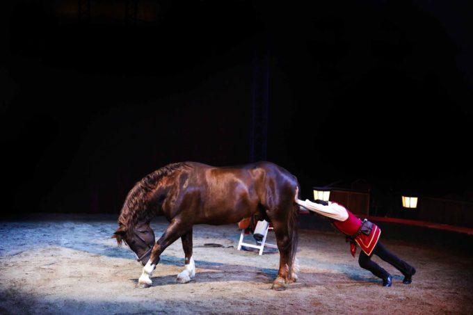 Cirque Gruss. Oirigines. La Femme Qui Marche.7l13A