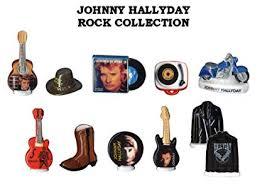 galette des rois. Fèves à l'effigie de Johnny Hallyday.