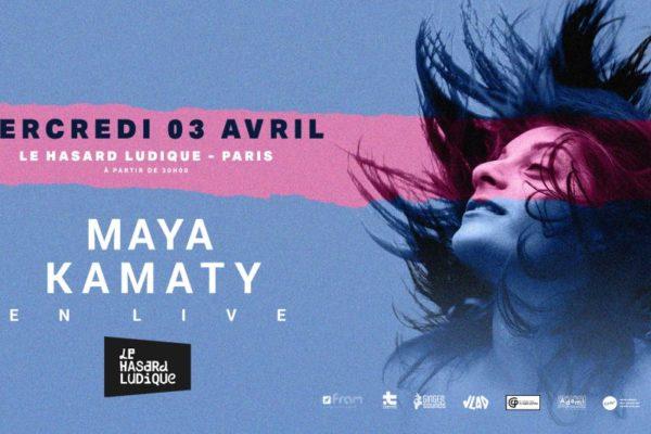 maya kamaty en concert le 3 avril au Hasard ludique. maloya